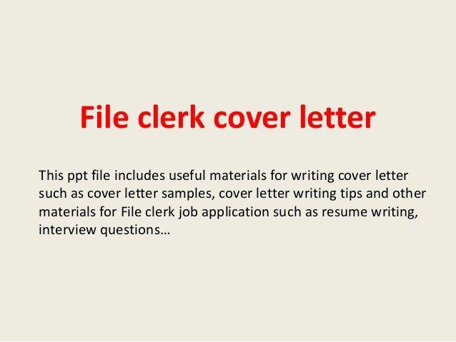 Intelligence clerk cover letter
