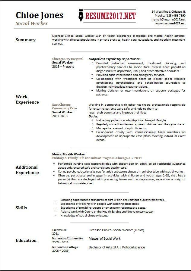 msw resume sample social work resume sample writing guide resume mental health worker resume