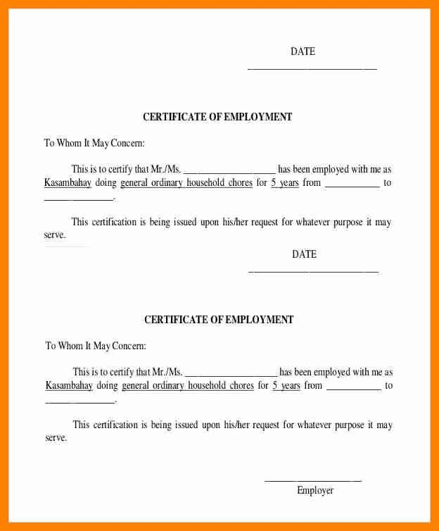 Certification Of Employment Sample 16 Sample Certificate Of - certification of employment sample