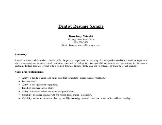 Dental Resume Samples Dental Assistant Resume Sample Tips Resume - dental resume template