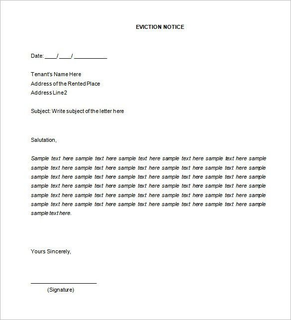 It is a graphic of Fabulous Free Printable 30 Day Eviction Notice Template