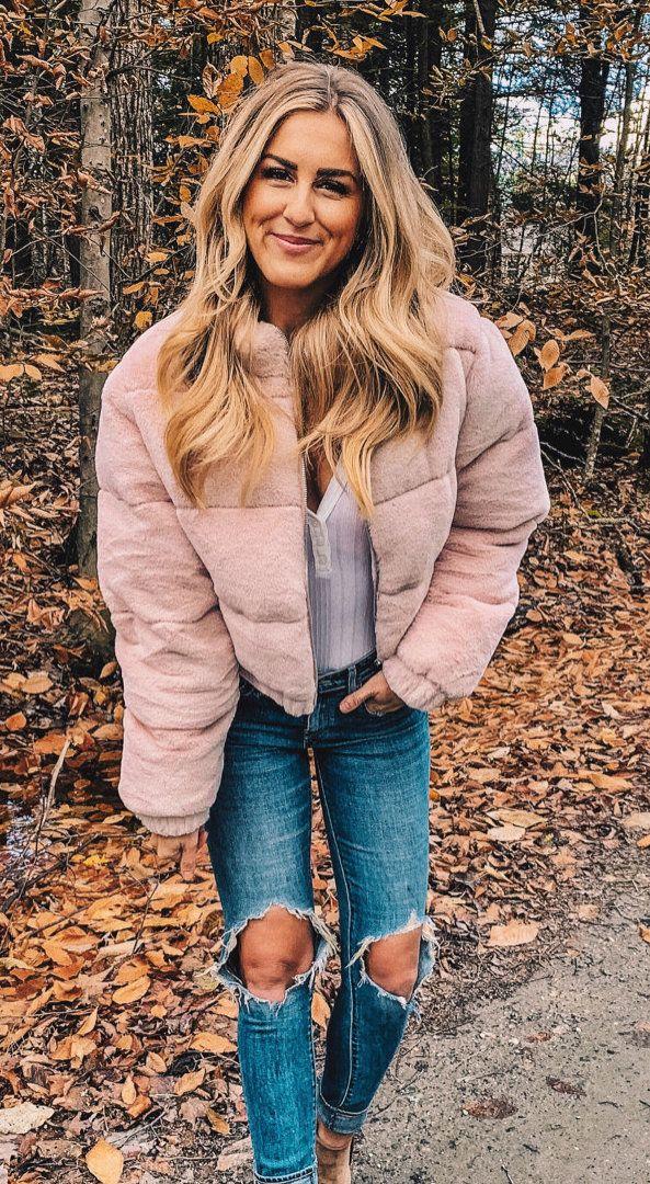 gray zip-up bubble jacket