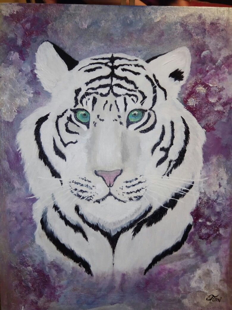White tiger (acrylic painting)
