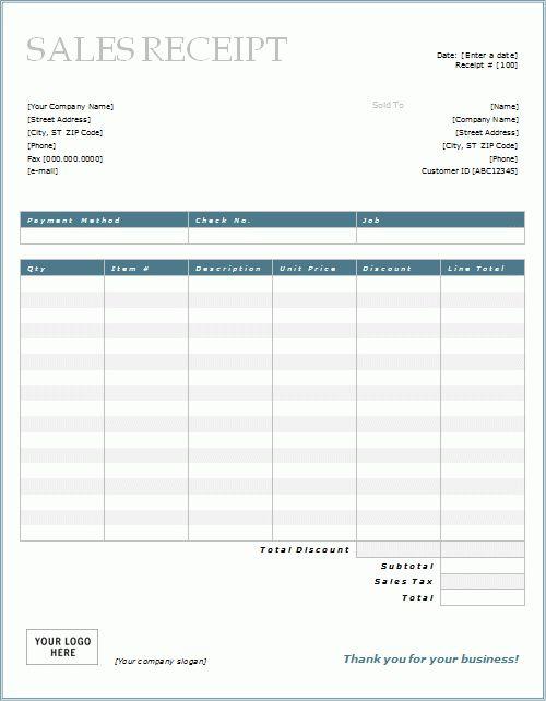7 Free Sales Receipt Templates   Word Excel Formats  Cash Sale Receipt Template Word