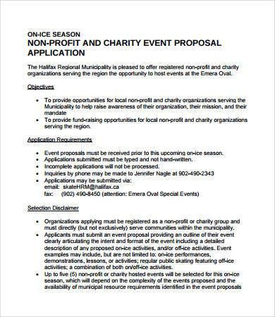 Charity Proposal Template School Charity Proposal Template - non profit proposal template