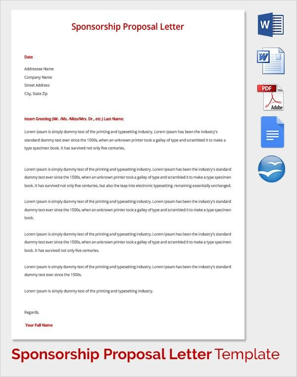 Sponsorship Proposal Template Sample Sponsorship Proposal - athlete sponsorship proposal template