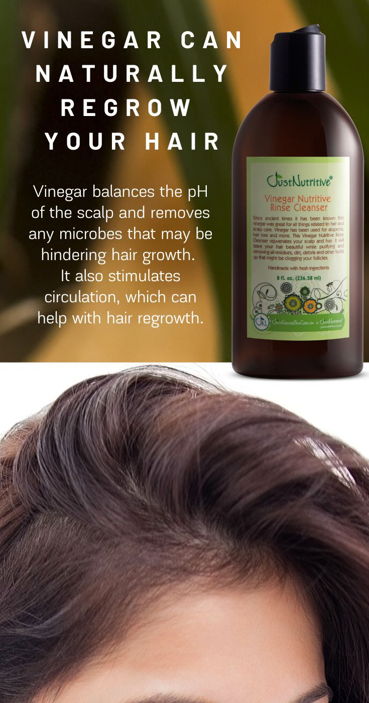 Vinegar can naturally regrow your hair!