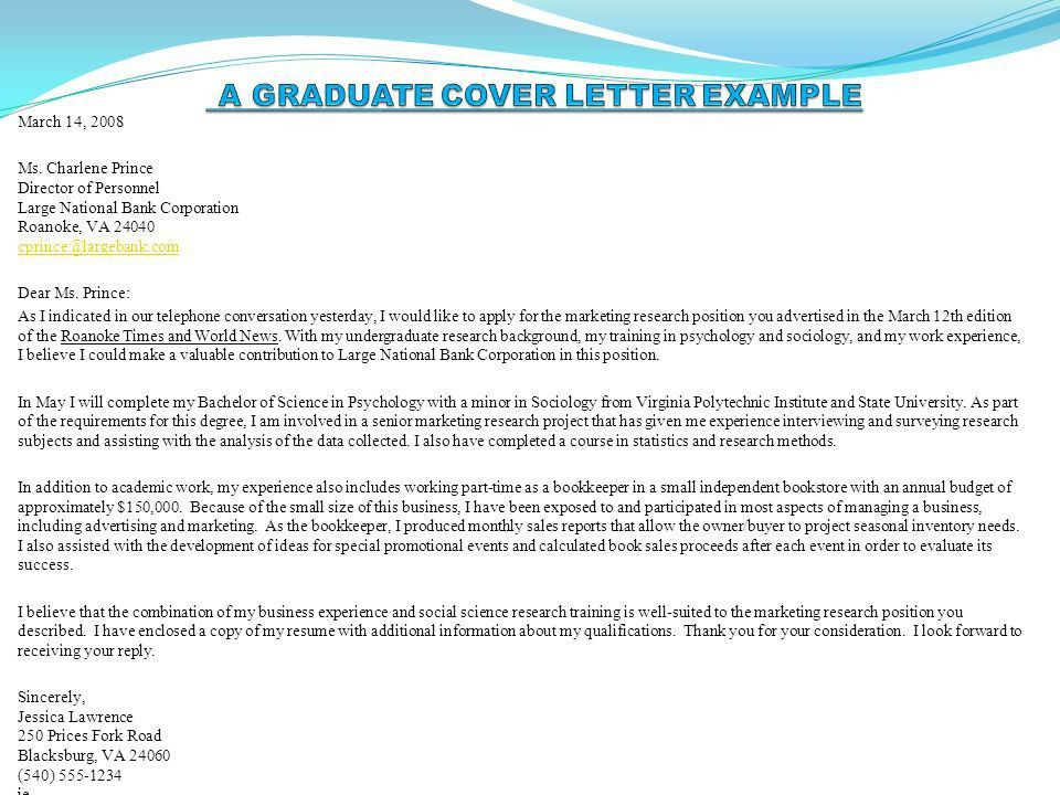 research job cover letter