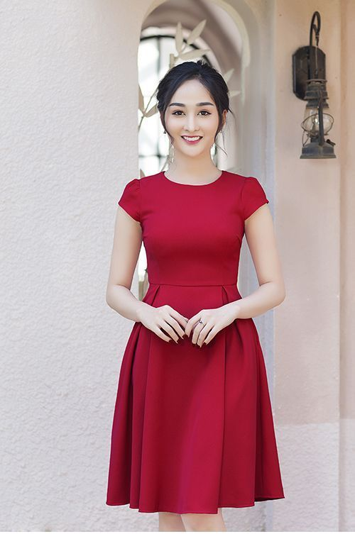 Simple cute red dress