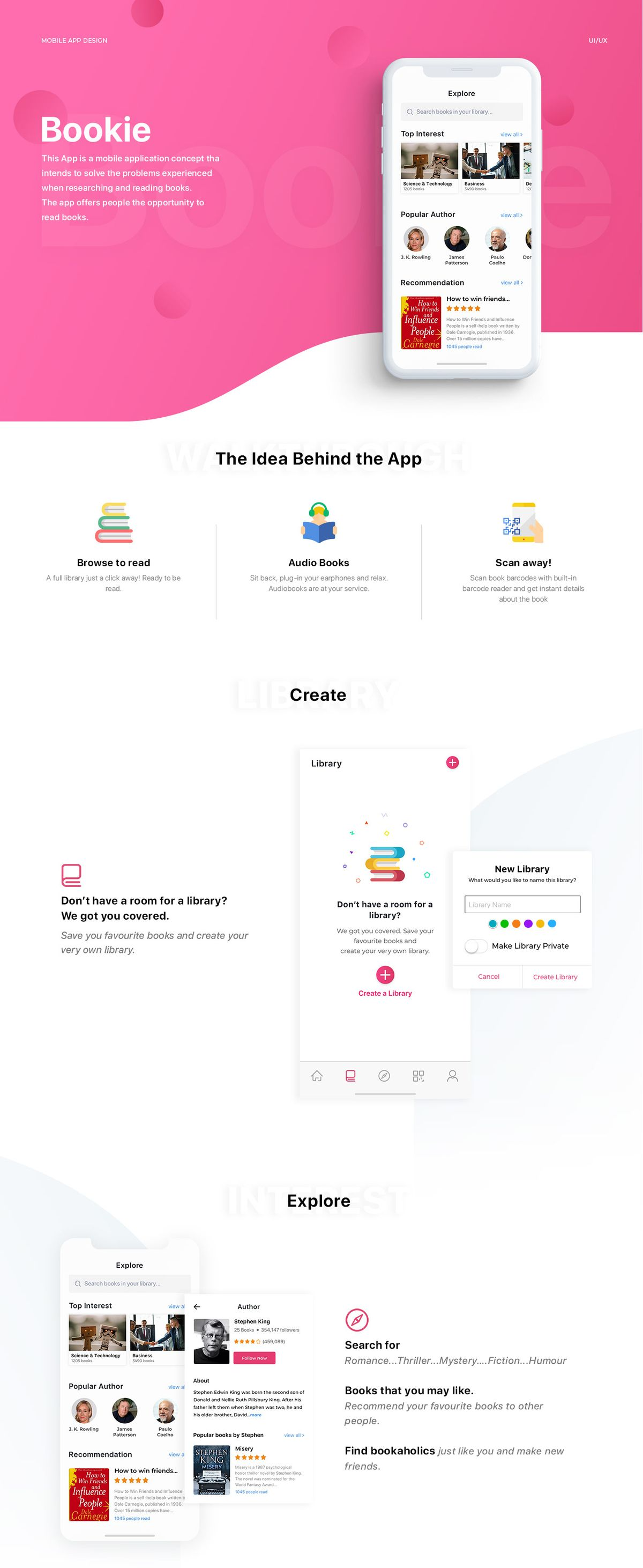 Bookie. IOS app for every book lover on Behance