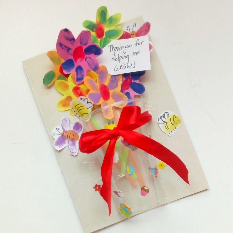 Thank You Teacher Card End Of Year Thank You Farewell Card 3d Card Crafts For Kids Teacher Gifts Farewell Cards