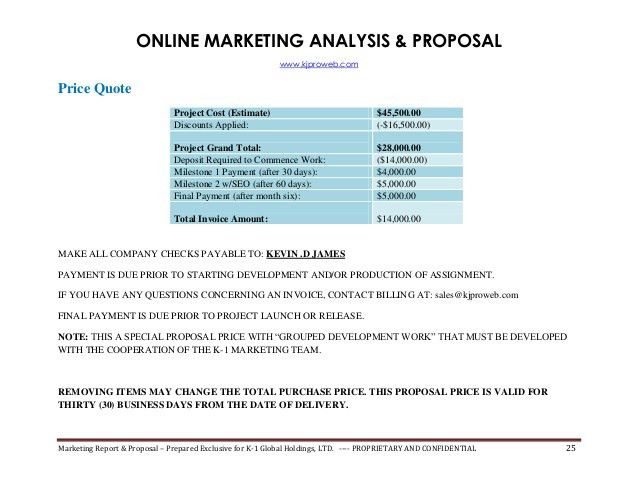 Marketing Project Proposal Template Choice Image Template Design