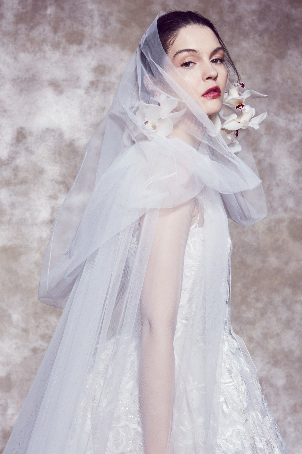 Marchesa Bridal Spring 2020 collection, runway looks, beauty, models, and reviews.