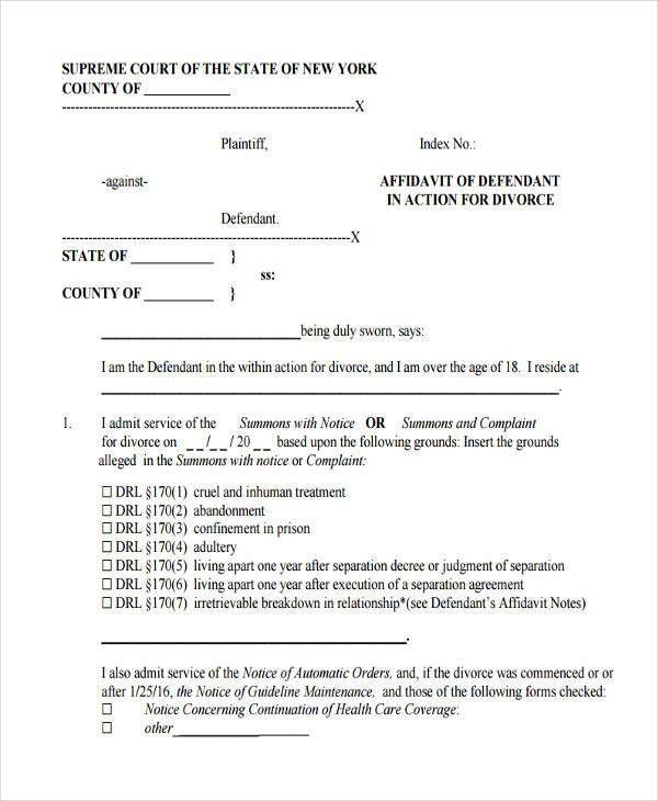 affidavit form free node2003-cvresumepaasprovider - Affidavit Formats