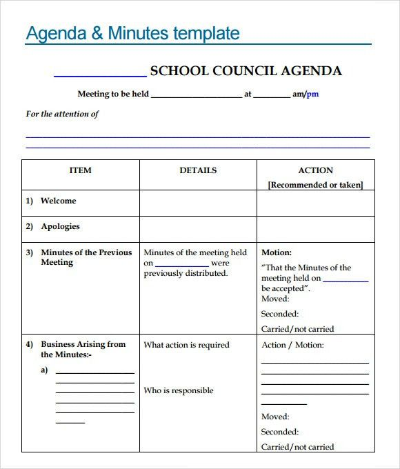 Sample Meeting Agenda Format Free Meeting Agenda Template Sample - sample meeting agenda 2