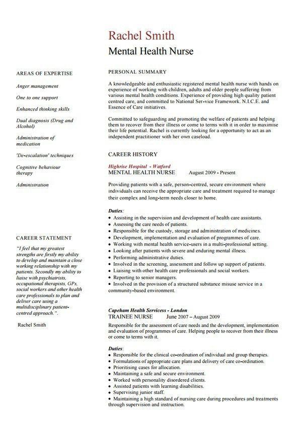Psychiatric Nurse Resume Sample Psychiatric Nurse Resume Sample - nurse resume template free