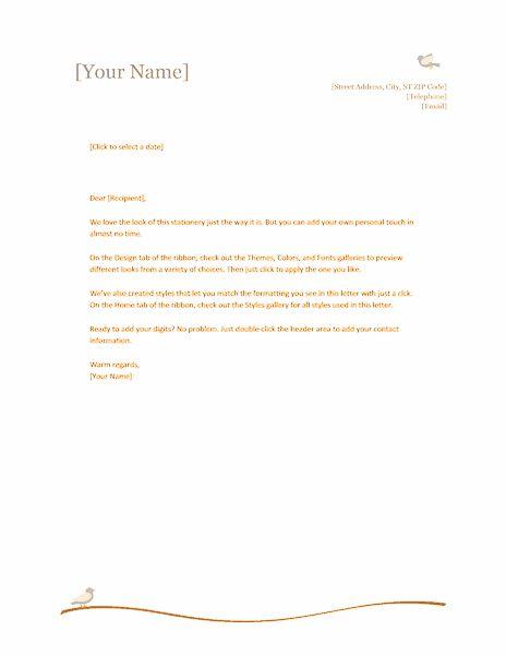 Letterhead Samples Word Free Letterhead Template Word Publisher - personal letterhead template