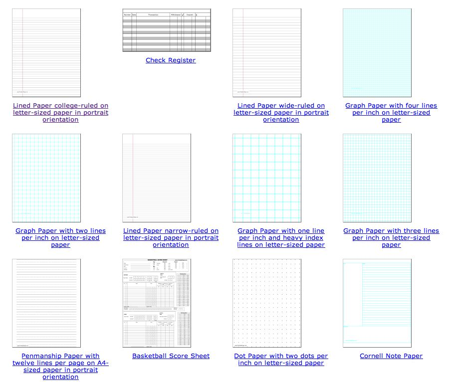 Four Ruled Paper. four line writing paper printable - printable ...