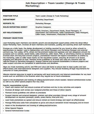 Trade Marketing Job Description Sales And Marketing Job - trade marketing job description