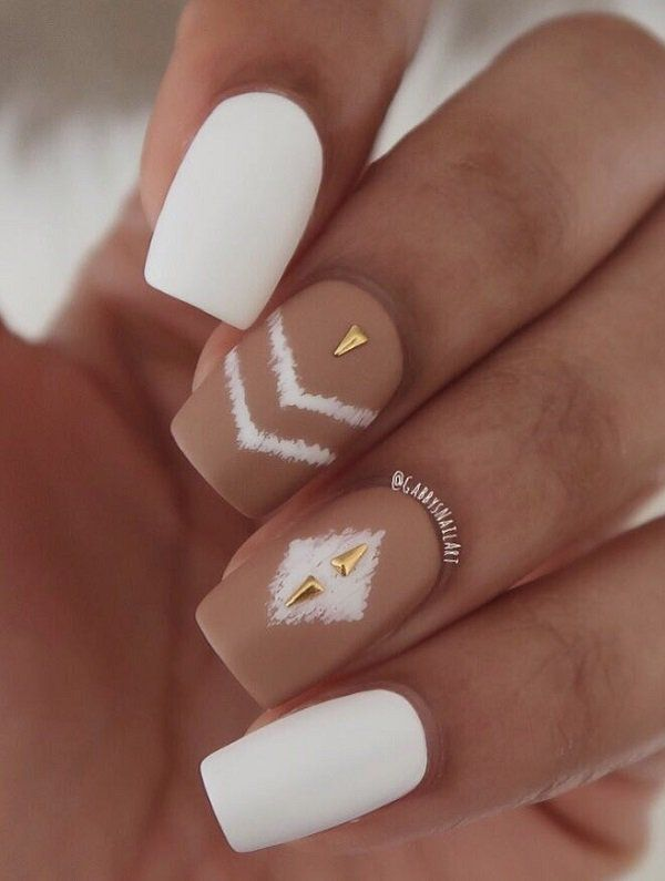 Nude Color Nail Art Ideas