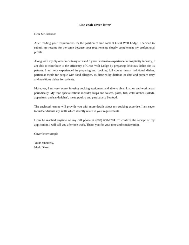 Cover Letter For Cook from i.pinimg.com