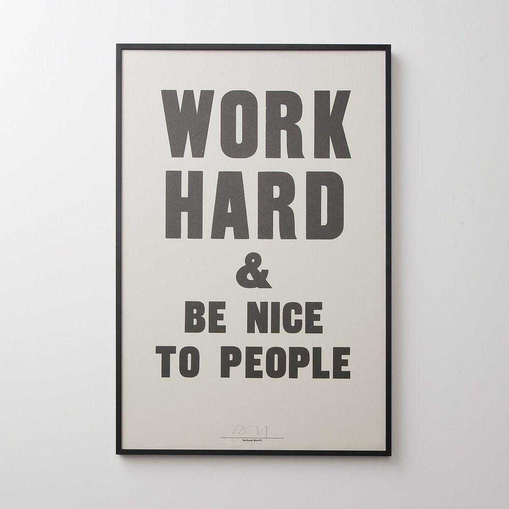 Work Hard Print