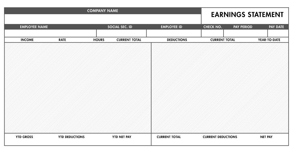 Pay Stub Template Word Download A Free Pay Stub Template For - check stub template