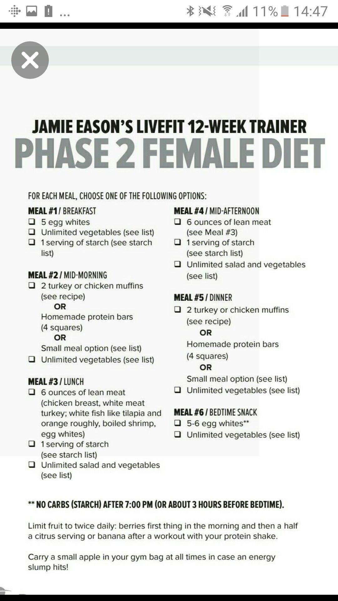 female weightlifter diet plan