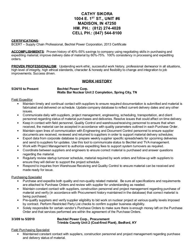 Procurement Clerk Sample Resume Procurement Clerk Sample Resume - tracer clerk sample resume