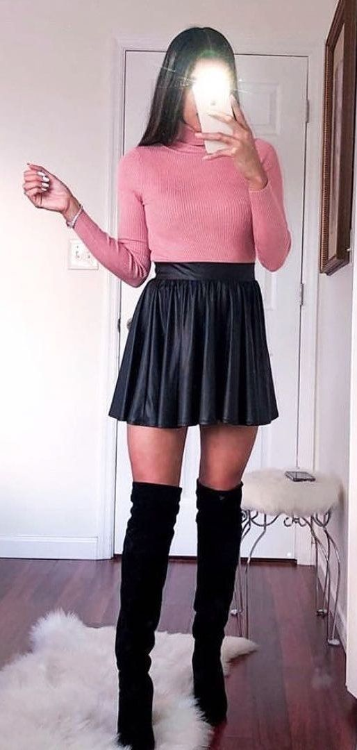 black and pink sleeveless dress #spring #outfits