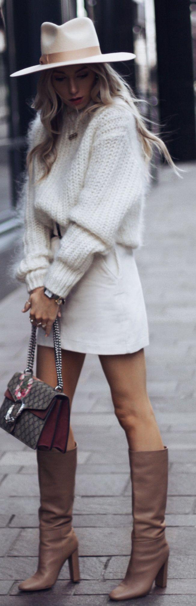 white miniskirt