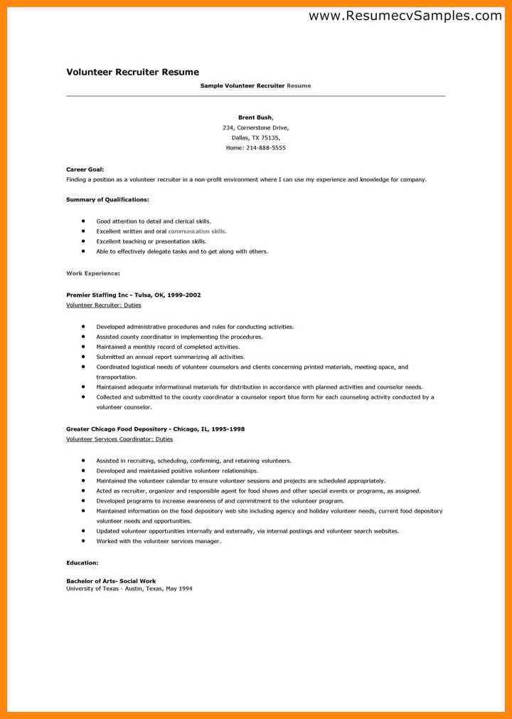 Sample Volunteer Resume Delectable Sample Resume For Experienced - agriculture resume template