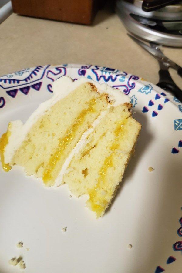Lemon Cake with Lemon Filling and Lemon Butter Frosting Recipe