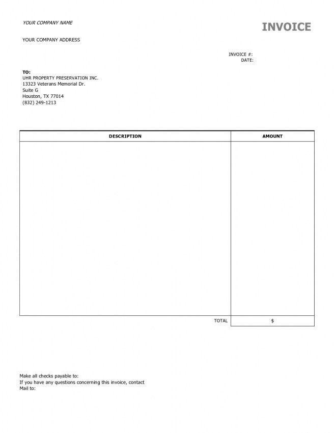 Invoice Word Template Free Invoice Template For Word Free Basic - personal invoice