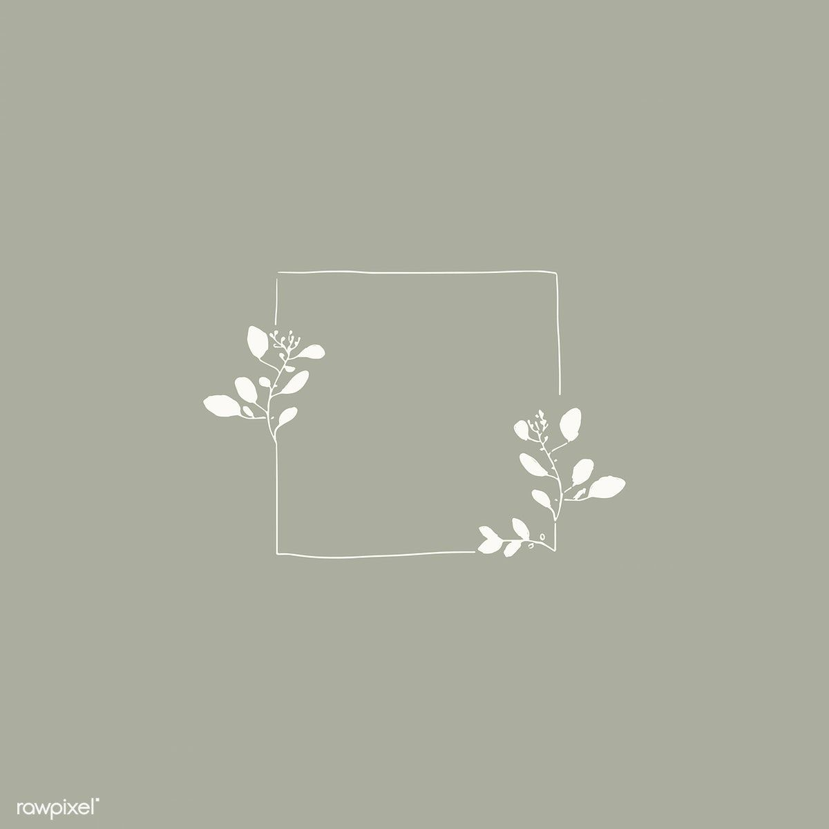 Doodle square floral square frame vector | free image by rawpixel.com / Adj