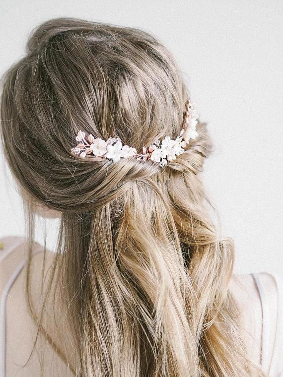 "Flower Hair Comb Bridal Hair Comb Boho Chic Rose Gold Bridal Headpiece Woman Gift Bridesmaid Beaded <a class=""pintag"" href=""/explore/Weddinghairstyles/"" title=""#Weddinghairstyles explore Pinterest"">#Weddinghairstyles</a><p><a href=""http://www.homeinteriordesign.org/2018/02/short-guide-to-interior-decoration.html"">Short guide to interior decoration</a></p>"