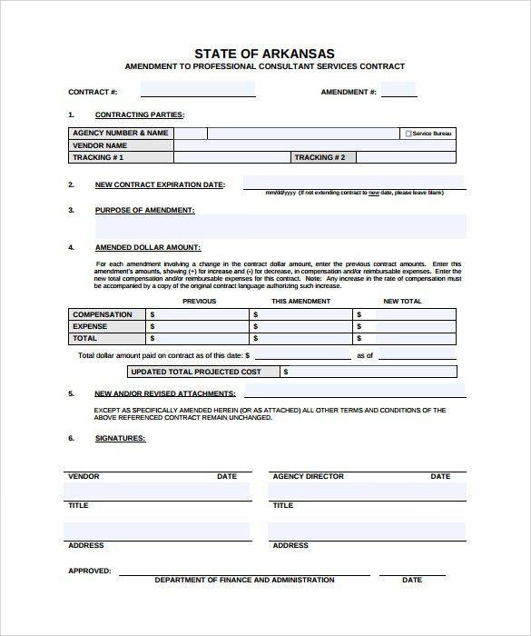 Sponsorship Contract Template Sponsorship Agreement Template - contract amendment template