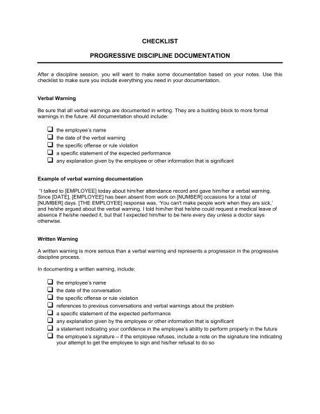 employee written warning forms