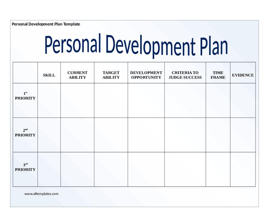Good ... Personal Development Portfolio Template 6 Free Personal   Example Of A Personal  Development Plan Sample ... Within Free Personal Development Plan Template