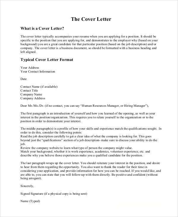 addressing cover letter