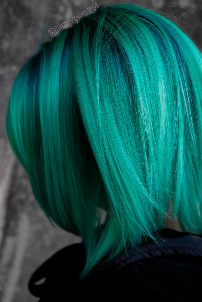 Forest Green Hair #colorfulhairstyles #bobhairstyles ★ Looking for the latest green hair ideas? In our guide, we've put together the best options to match any taste, from light pastel mint balayage on a short bob to dark and bright emerald ombre on long locks. #glaminati #lifestyle #greenhair