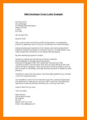Developer Cover Letter Web Developer Cover Letter Examples For It - web developer cover letter