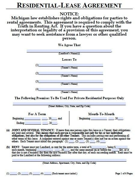 Lease Document Template Lease Agreement Template Free Word - lease document template
