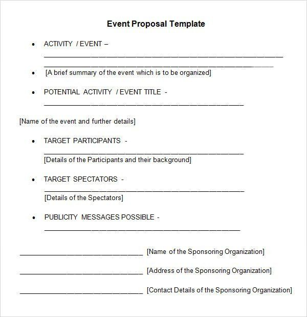 Event Proposal Template Word Event Proposal Template 12 Free Word - event proposal template doc