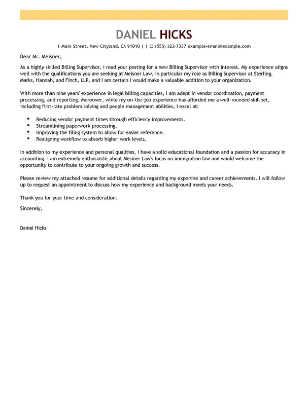 ... Law Cover Letter Best Legal Assistant Cover Letter Examples   Billing  Manager Cover Letter ...