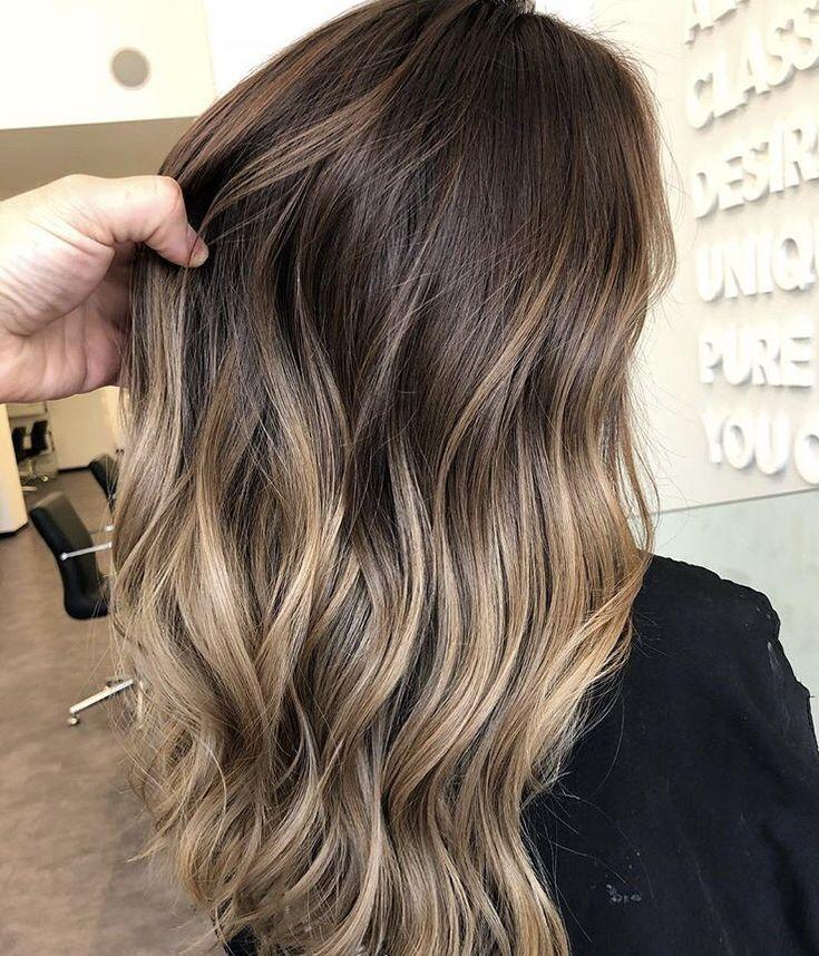 wavy balayage hair #beauty