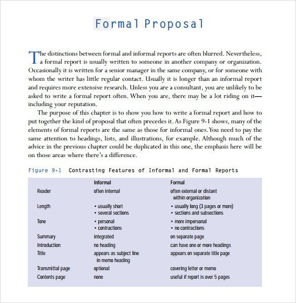 Formal Proposal Template  CityEsporaCo