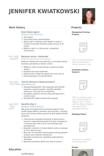 Sample Resume Real Estate Agent Real Estate Agent Resume Example - real estate resume examples