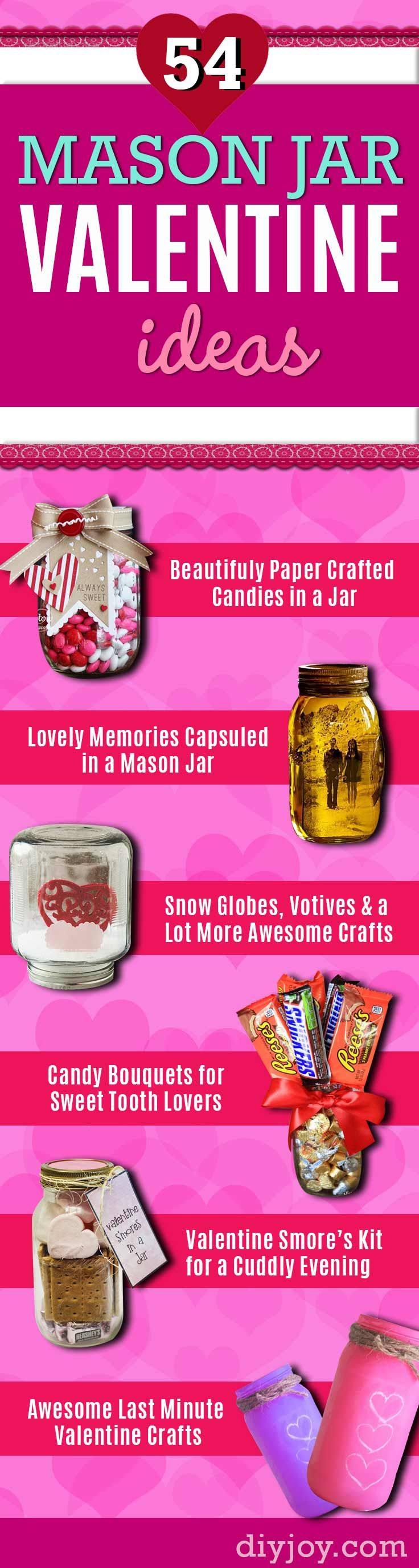 Mason Jar Valentine Gifts - DIY Valentines Day Ideas