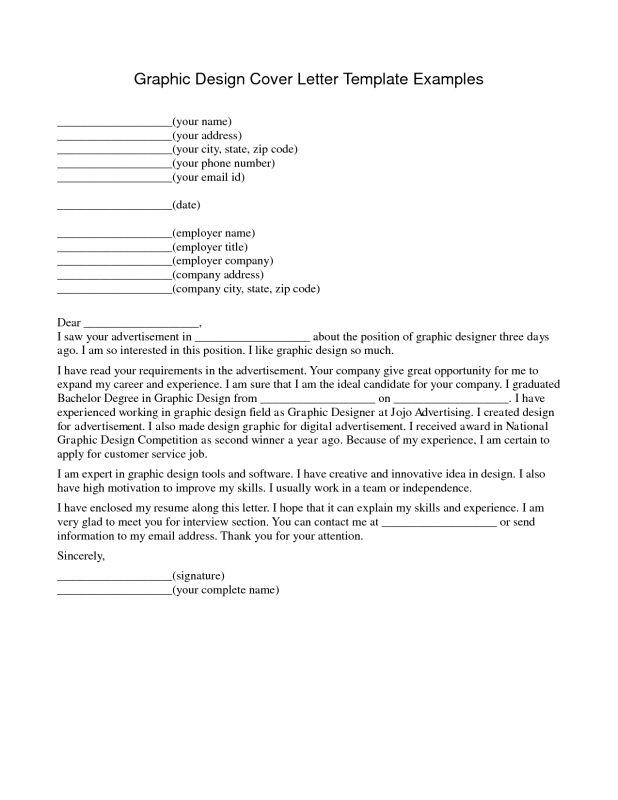 cover letter sample for graphic designer